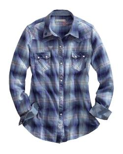 Tin Haul  - Cotton L/S Imperial Ombre Plaid Western Shirt