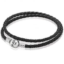 PANDORA - Leather Clasp Bracelet