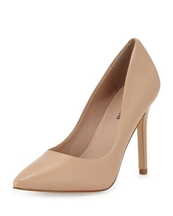 Neiman Marcus   - Prestige Leather Pointed-Toe Pumps