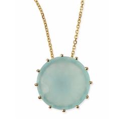 Kalan By Suzanne Kalan - Round Chalcedony Pendant Necklace