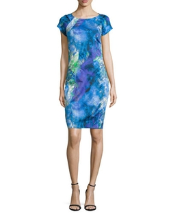 Zac Zac Posen	  - Carmen Short-sleeve Printed Sheath Dress