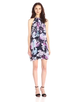Jessica Simpson - Floral Print Halter Dress