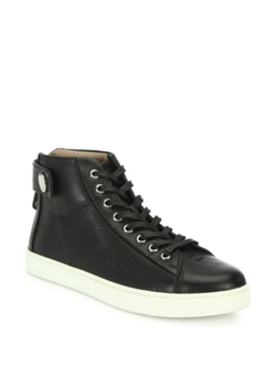 Gianvito Rossi  - Leather High-Top Sneakers