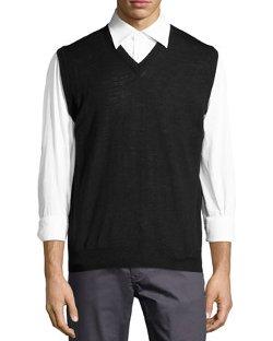 Neiman Marcus - Wool-Blend Sweater Vest