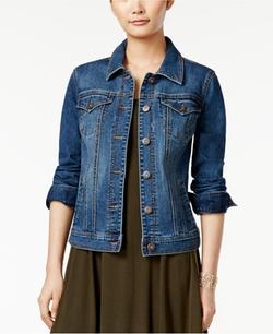 Style & Co.  - Mosaic Wash Denim Jacket