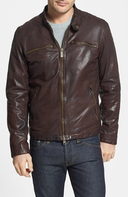 Vince Camuto - Washed Leather Moto Jacket