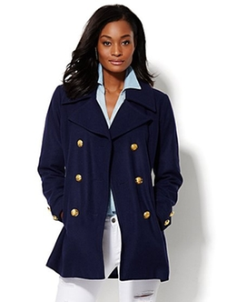 New York & Company - Wool-Blend Pea Coat