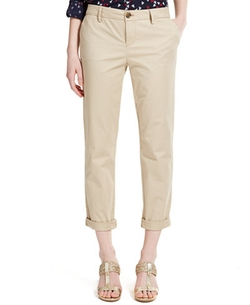Tommy Hilfiger - Cuffed Chino Straight-Leg Pants