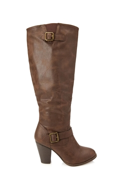 Forever 21 - Faux Leather Knee-High Boots