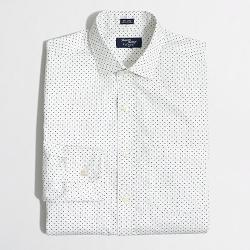 J.Crew - Factory Tall Thompson Printed Spread-Collar Dress Shirt