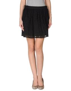 Pinko Black - Flared Lace Mini Skirt
