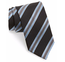 David Donahue  - Stripe Silk Tie
