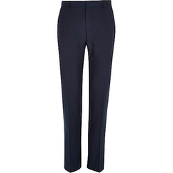 River Island - Blue Slim Suit Pants