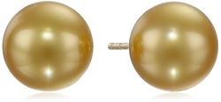 TARA Pearls - Natural Color Golden South Sea Stud Earrings