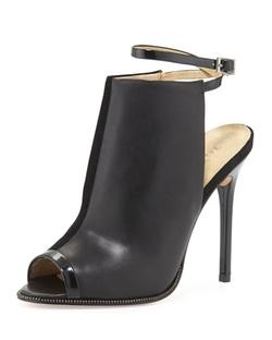 L.A.M.B.   - Ward Leather Peep-Toe Pumps