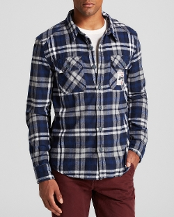 Superdry Milled - Flannel Button Down Shirt