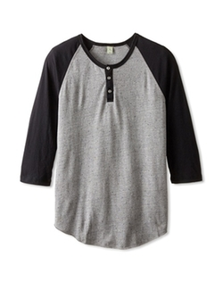 Alternative  - Jersey 3/4 Sleeve Raglan Henley Shirt