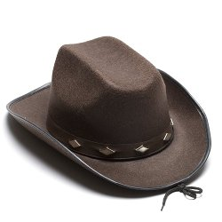 Century Novelty - Brown Studded Cowboy Hat