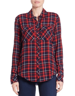 Guess - Plaid Shirttail Shirt