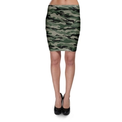 Queen Of Cases - Military Camouflage Bodycon Skirt