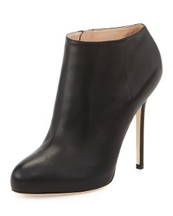 Sergio Rossi  - Leather High-Heel Ankle Boots