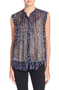Rebecca Taylor  - Print Sleeveless Silk Top