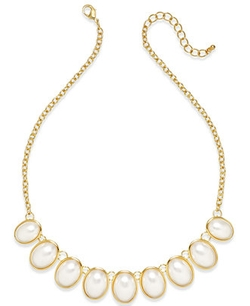Charter Club - Gold-Tone Imitation Pearl Frontal Necklace