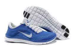 NIKE - Free 3.0 V5 Unisex Blue White Running Shoes
