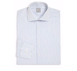 Ike Behar  - Regular-Fit Striped Dress Shirt