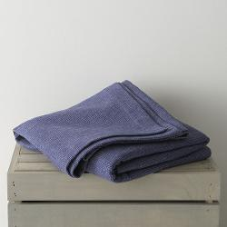 Crate and Barrel - Geneva Blue Twin Blanket