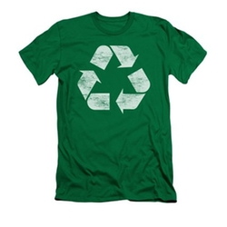 Recycle - Reuse Recycle Sign Adult Slim T-Shirt