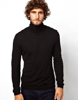 ASOS  - Roll Neck Sweater In Cotton
