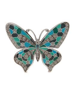 L. Erickson - Marbella Butterfly Enamel Barrette