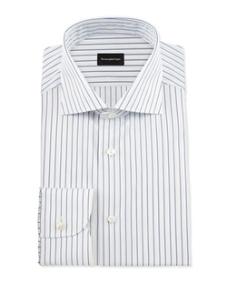 Ermenegildo Zegna - Pinstripe Woven Dress Shirt