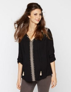A Pea in the Pod - Embroidery Maternity Blouse