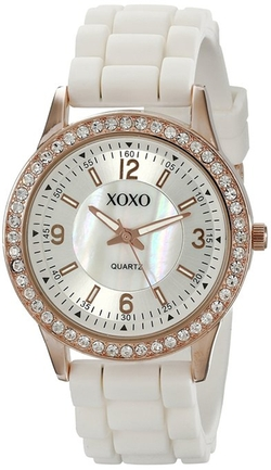 Xoxo - Rhinestone-Accented Watch