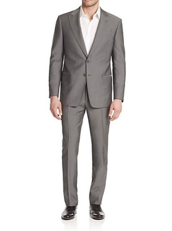 Armani Collezioni  - Two-Button Solid Wool Suit