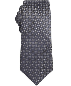 Prada  - Blue And Grey Diamond Printed Silk Tie