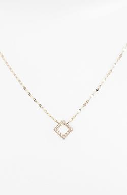 Lana Jewelry - Diamond Square Pendant Necklace