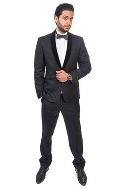 Azar Man - One Button Shawl Velvet Lapel Tuxedo Suit