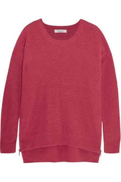 Madewell  - Bramble Textured Cotton Blend Sweater