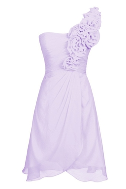 Ellames - One Shoulder Short Bridesmaid Dress