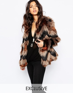 Asos - Faux London Fluffy Faux Fur