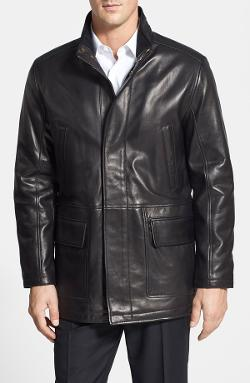 Cole Haan - Lambskin Leather Car Coat