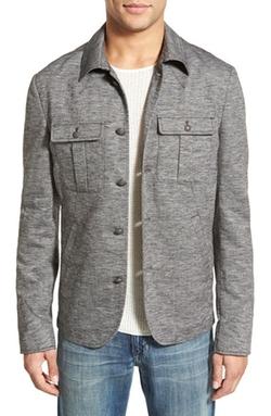 John Varvatos Star USA - Cotton & Linen Military Shirt Jacket