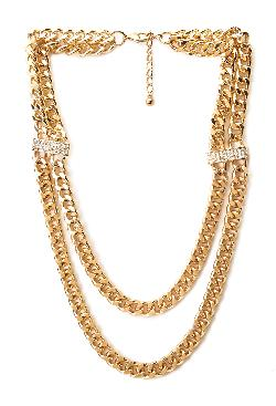 21 Forever - Glitzy Layered Chain Necklace
