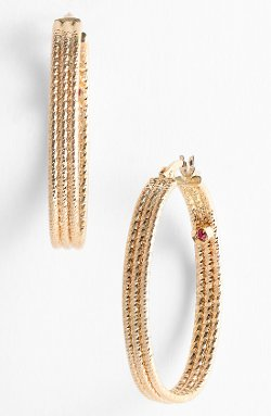 Roberto Coin - Ribbed Gold Hoop Earrings