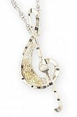 Jewelry Black Hills Gold - Treble Clef Necklace