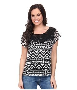 Roper - Aztec Print Georgette Shirt