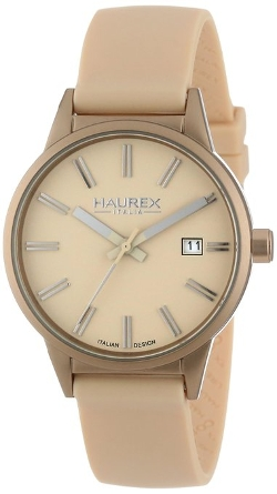 Haurex - Compact Gold Tone Aluminum Case Dial Date Watch